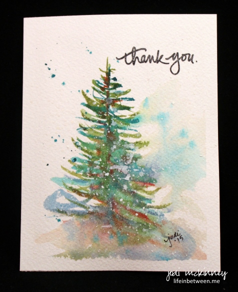 watercolor thank you christmas 2015 1