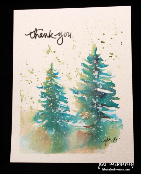 watercolor thank you christmas 2015 3