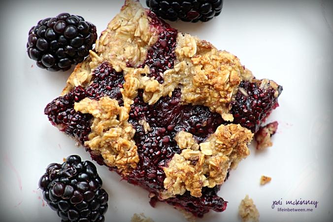 blackberry banana oat bar