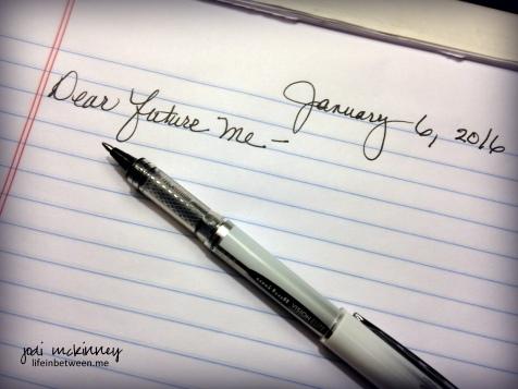 Dear future me