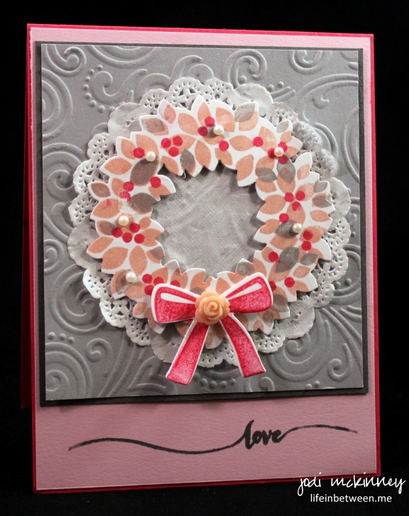 valentines pink and gray wondrous wreath