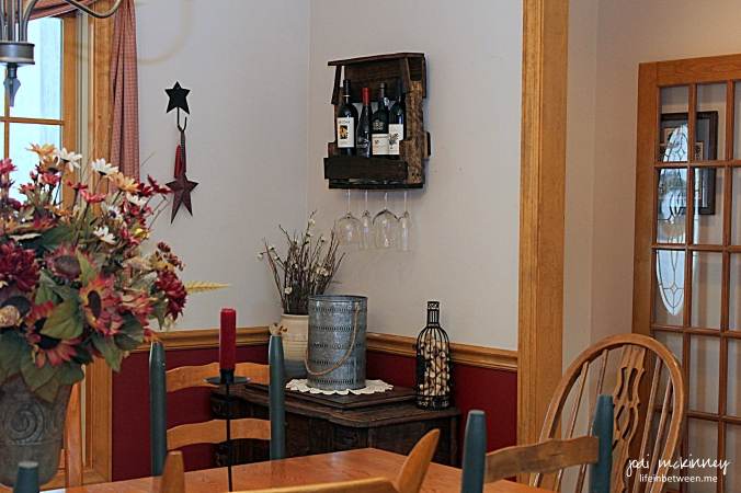 wine rack corner