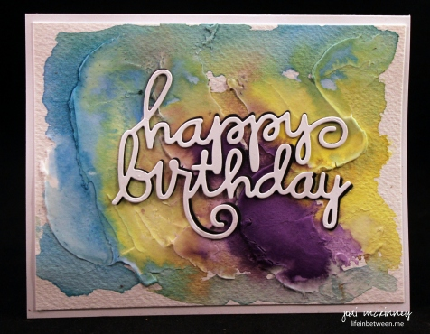 abstract watercolor happy birthday card
