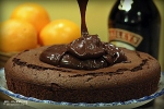 Baileys Irish Cream Chocolate Cake adding ganache