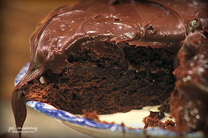 Baileys Irish Cream Chocolate Cake sliced