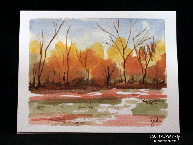 watercolor card trees inspired by debi riley