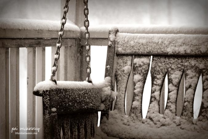 porch swing winter