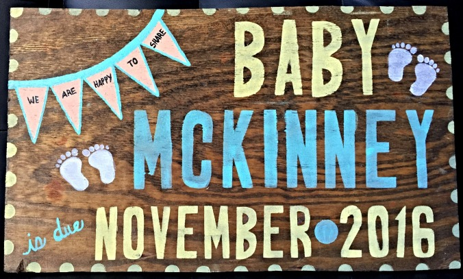 baby mckinney sign