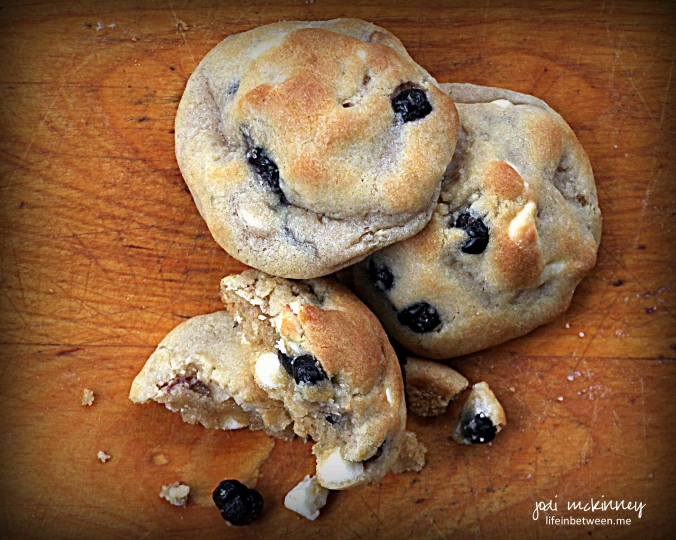 Blueberry White Chocolate Chip Cookies 2
