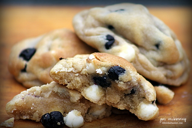 Blueberry White Chocolate Chip Cookies 3