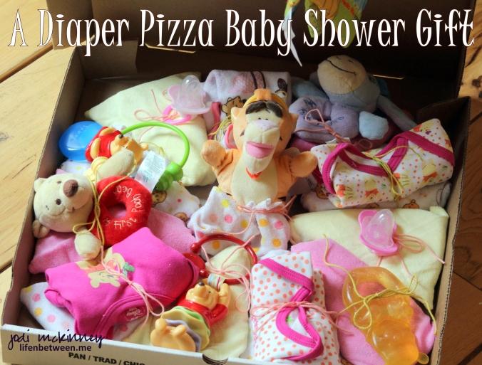 Diaper pizza baby shower gift 1