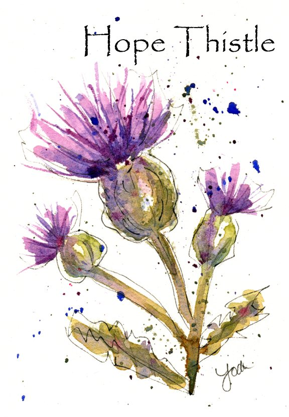 Hope Thistle Watercolor