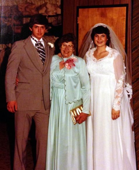 Marty Grandma and Jodi wedding day