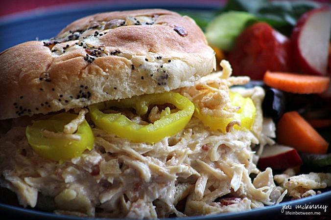 Shredded Bacon Ranch Chicken Sandwich
