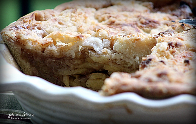 dutch apple pie cut