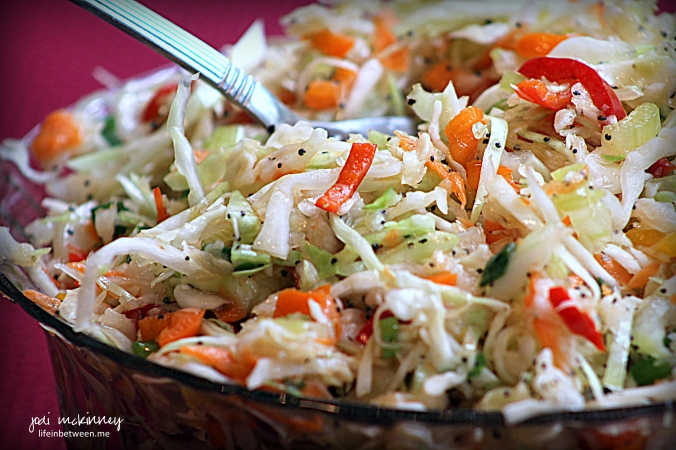 Fresh Poppyseed Viniagrette Cole Slaw