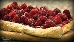 red raspberry puff pastry tart 1