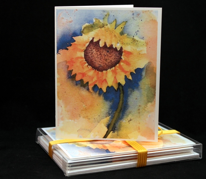 Sunny Sunflower Greeting Card Set