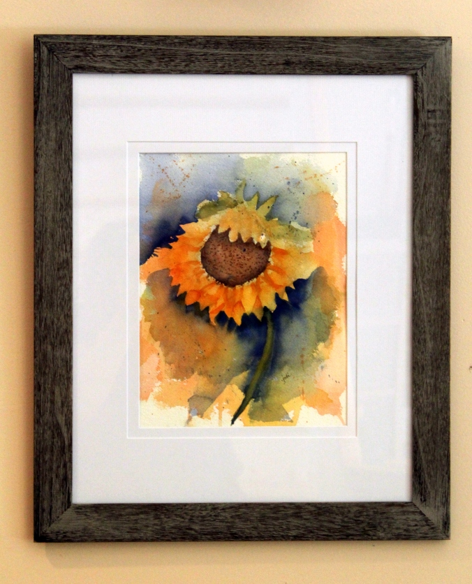 Sunny Sunflower Original Watercolor 10 x 14 Arches 300 lb Cold Press