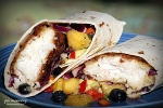 fish tacos with pineapple blueberry salsa red cabbage and avocado 2