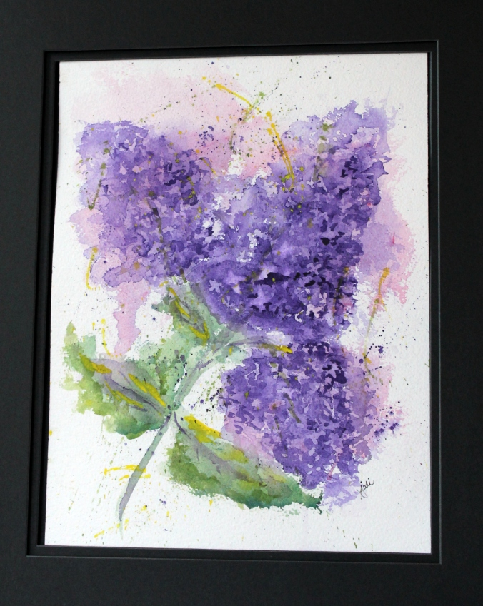 lilac love watercolor painting arches 300 lb cold press 10 x 14 diaxozine violet
