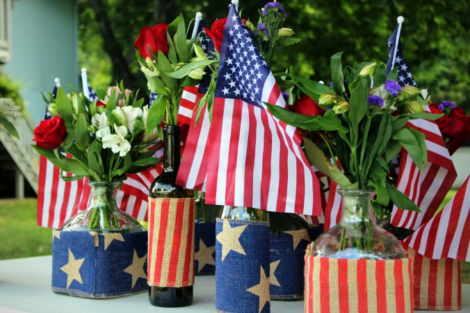 flag centerpieces