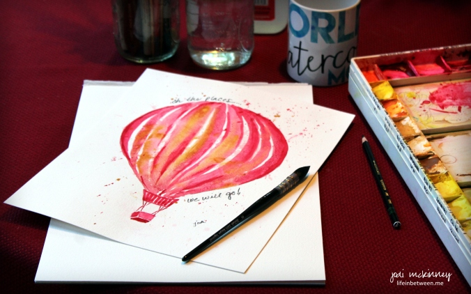 painting watercolor hot air balloon with rekab 320s 2