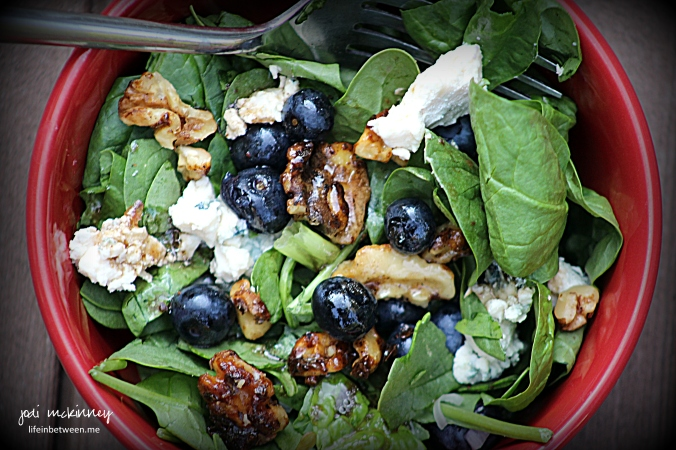 Spinach blueberry salad 2