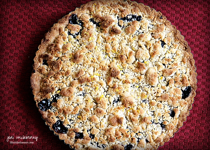 blueberry shortbread tart 1