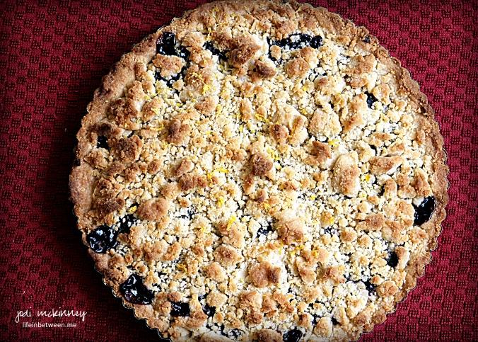 blueberry shortbread tart 1