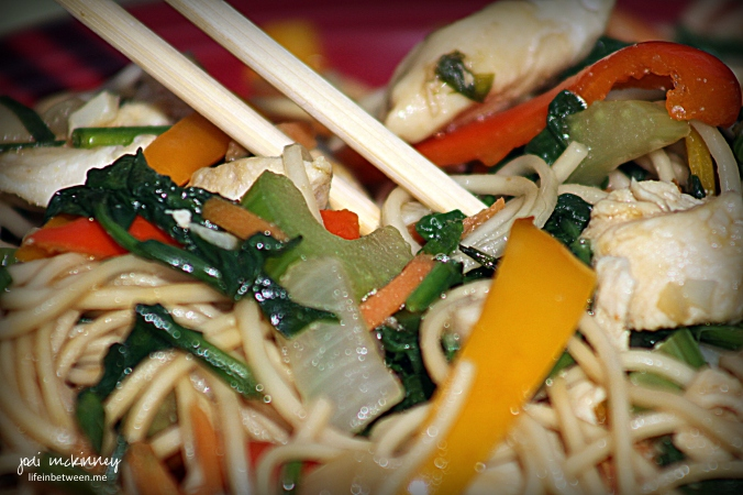 chicken and vegetable lo mein 2
