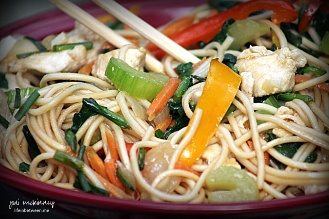 chicken and vegetable lo mein 3