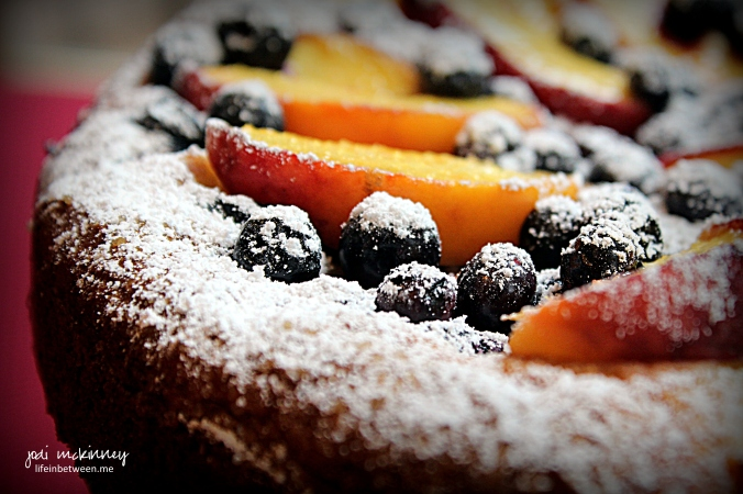 Peach Blueberry Greek Yogurt Cake 2
