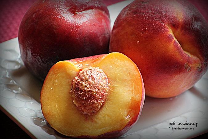 Peach Blueberry Greek Yogurt Cake fresh peaches