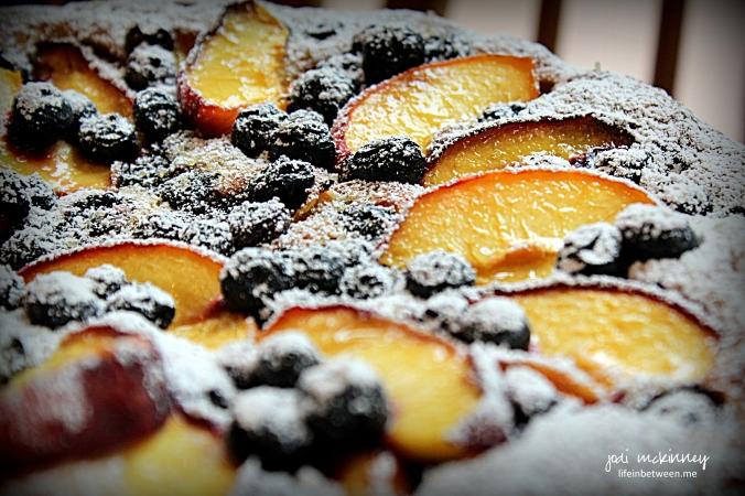 Peach Blueberry Greek Yogurt Cake