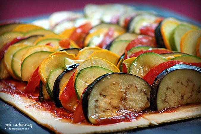 Summer Vegetable Tart Before Baked