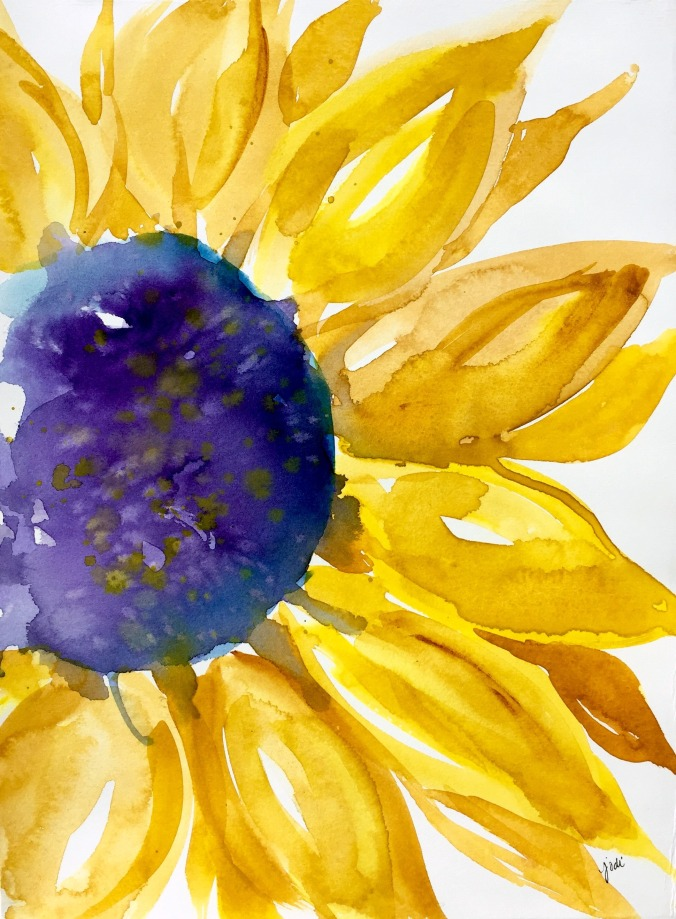 sunny-sunflower-watercolor-11x14-artistico-ex-wh-300lb-soft