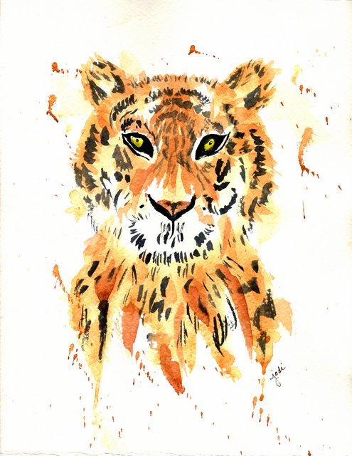 Watercolor Tiger 9 x 11 300lb Fabriano Artistico