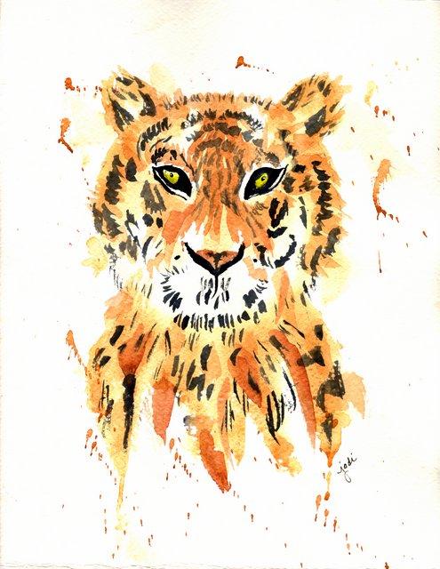 Watercolor Tiger 9 x 11 300lb Fabriano Artistico