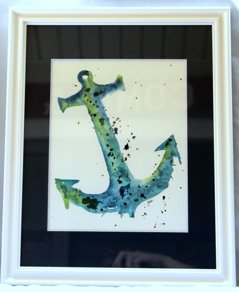 blue-anchor-watercolor-framed