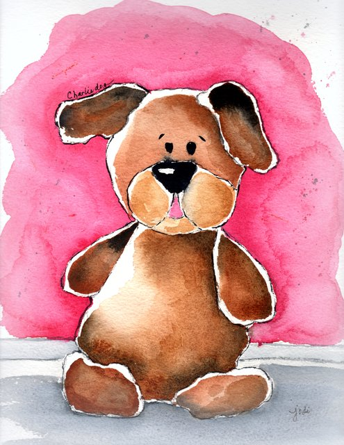 charliedog-watercolor-character-10x12-arches-300lb-cold-press