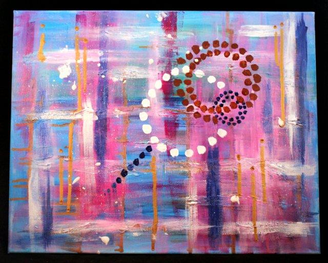 Acrylic Abstract Painting 16x20 Jodi McKinney