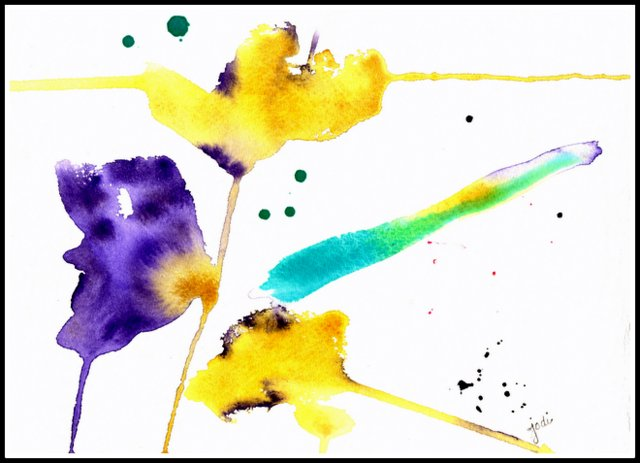 No Regrets Abstract Watercolor