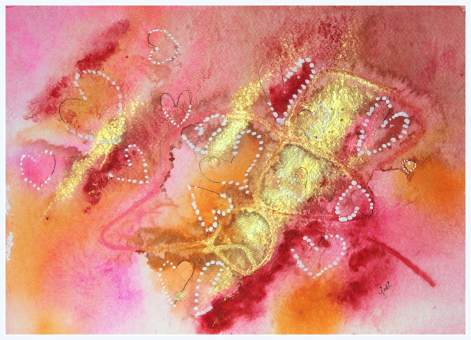 pink-orange-gold-abstract-watercolor-with-hearts-11x14-on-300-lb-arches-cold-press