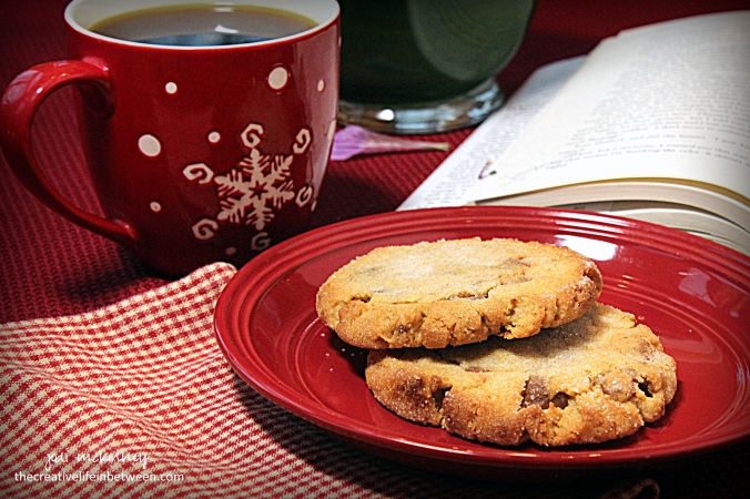 reeses-peanut-butter-cookies-with-coffee-and-book