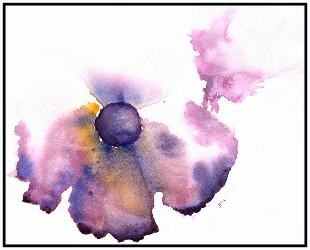 purple anemone illusion watercolor on 9x12 140lb arches