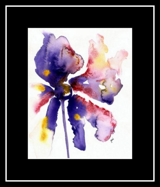 violet-crimson-gold-abstract-flower-watercolor