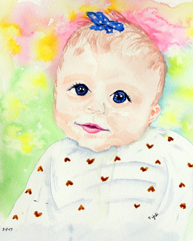 clara-3-months-old-watercolor-painting-8x10-140lb-saunders