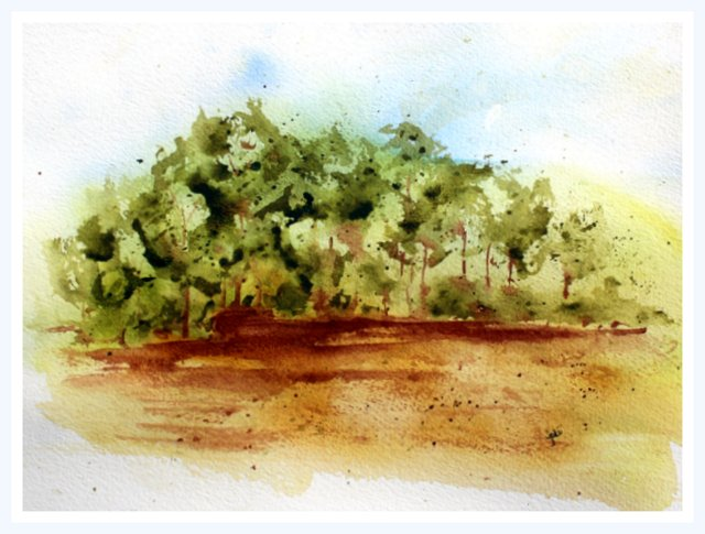 "Into the Woods Watercolor 9x11"" Arches 140lb Rough"