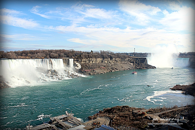 Niagara Falls - Horseshoe and American Falls - from Canadian Side - April 1, 2017
